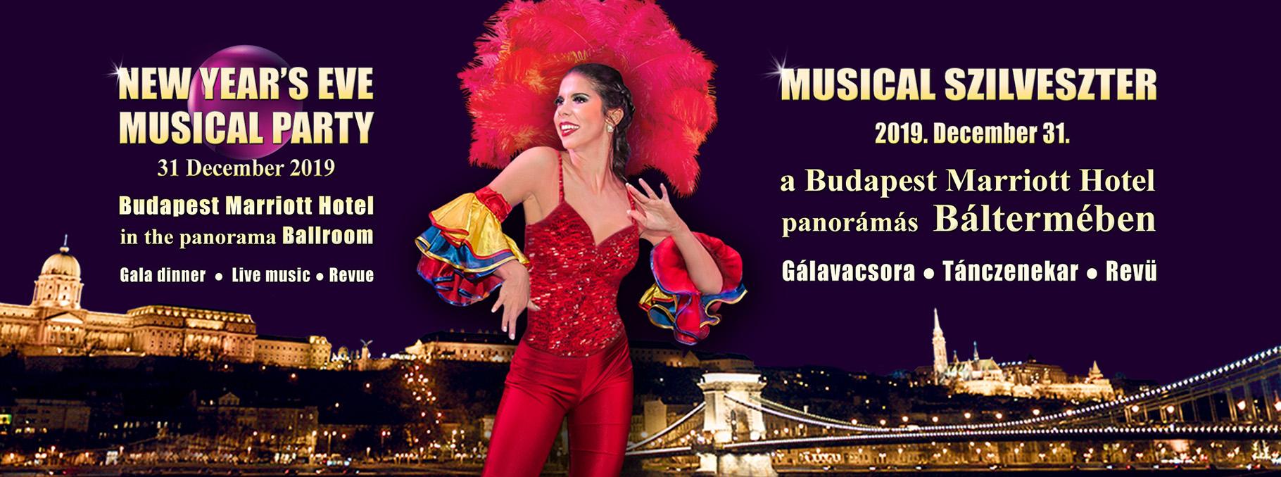 Musical Szilveszter Budapest 2020 – a Marriott Hotel Báltermében
